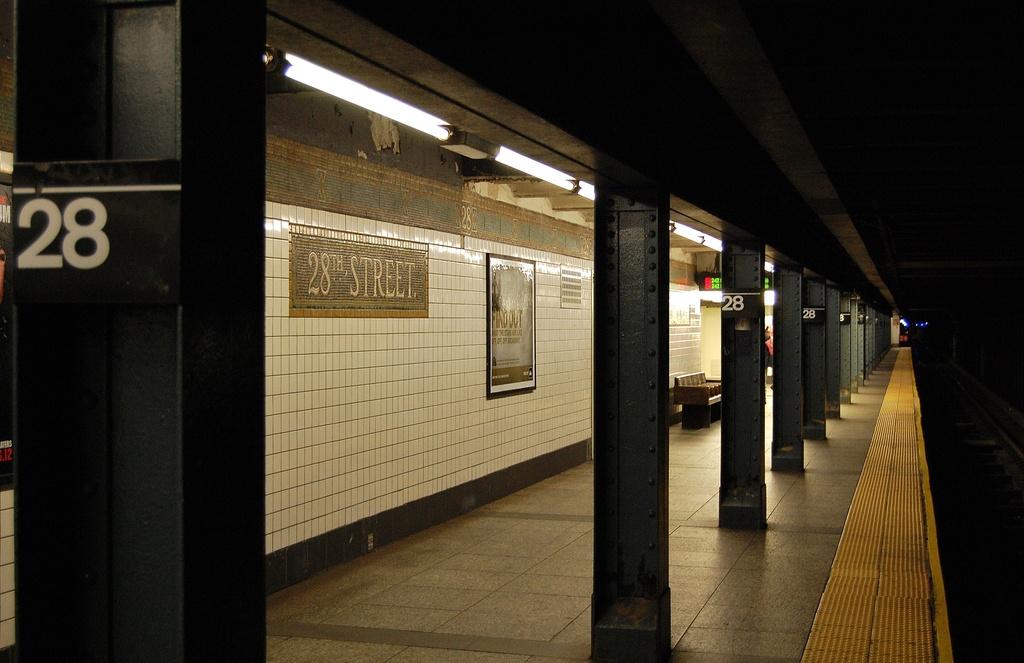 (265k, 1024x663)<br><b>Country:</b> United States<br><b>City:</b> New York<br><b>System:</b> New York City Transit<br><b>Line:</b> IRT West Side Line<br><b>Location:</b> 28th Street <br><b>Photo by:</b> John Dooley<br><b>Date:</b> 2/26/2012<br><b>Viewed (this week/total):</b> 2 / 1217