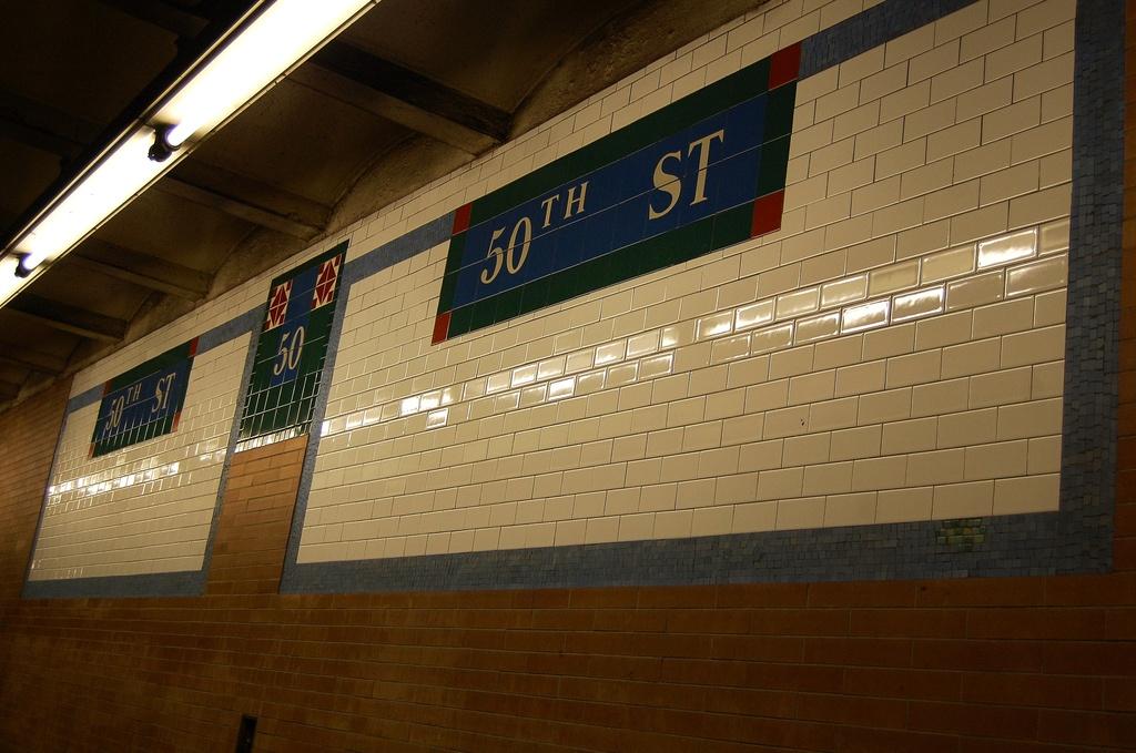 (295k, 1024x679)<br><b>Country:</b> United States<br><b>City:</b> New York<br><b>System:</b> New York City Transit<br><b>Line:</b> IRT West Side Line<br><b>Location:</b> 50th Street <br><b>Photo by:</b> John Dooley<br><b>Date:</b> 2/26/2012<br><b>Viewed (this week/total):</b> 0 / 791
