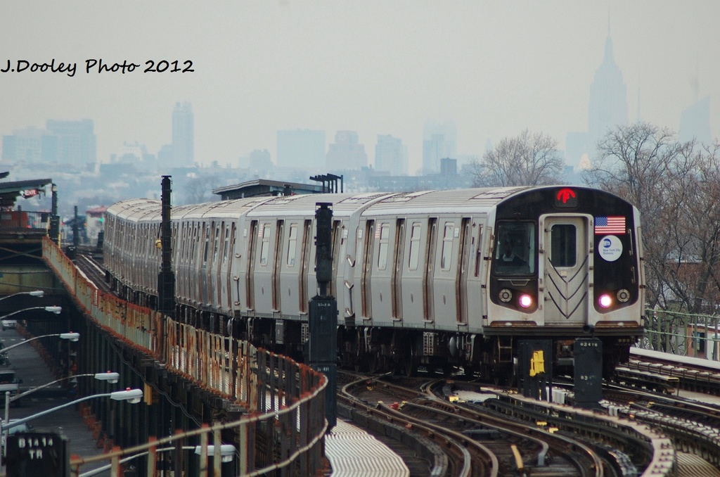 (289k, 1024x678)<br><b>Country:</b> United States<br><b>City:</b> New York<br><b>System:</b> New York City Transit<br><b>Line:</b> BMT Culver Line<br><b>Location:</b> Kings Highway <br><b>Route:</b> F<br><b>Car:</b> R-160A (Option 1) (Alstom, 2008-2009, 5 car sets)  9578 <br><b>Photo by:</b> John Dooley<br><b>Date:</b> 1/26/2012<br><b>Viewed (this week/total):</b> 2 / 770