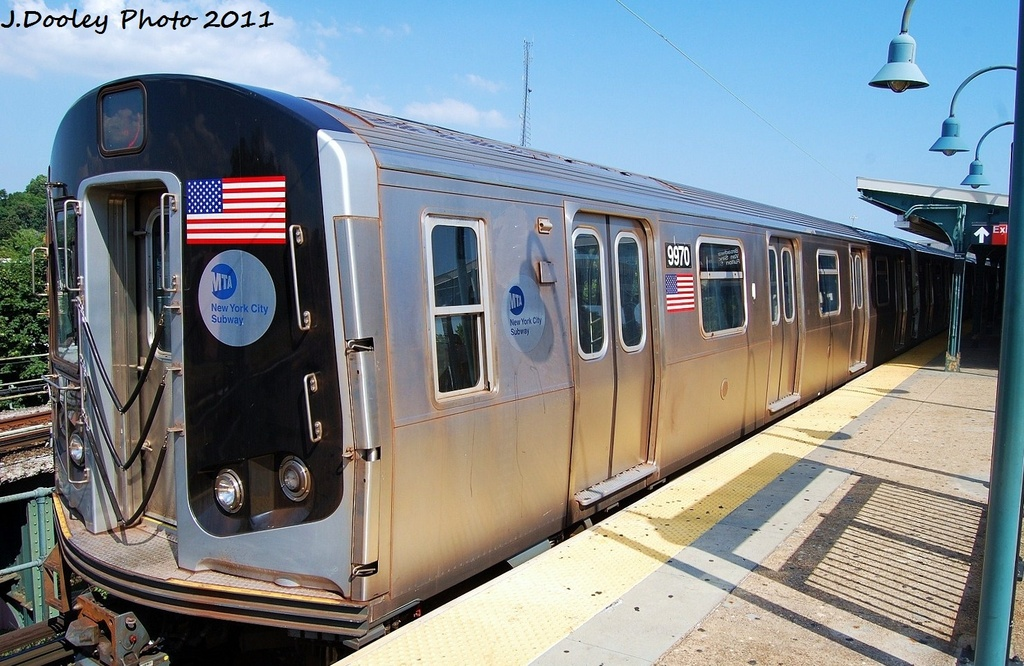(338k, 1024x666)<br><b>Country:</b> United States<br><b>City:</b> New York<br><b>System:</b> New York City Transit<br><b>Line:</b> BMT Nassau Street/Jamaica Line<br><b>Location:</b> Broadway/East New York (Broadway Junction) <br><b>Route:</b> J<br><b>Car:</b> R-160A (Option 2) (Alstom, 2009, 4-car sets)  9970 <br><b>Photo by:</b> John Dooley<br><b>Date:</b> 8/17/2011<br><b>Viewed (this week/total):</b> 3 / 980