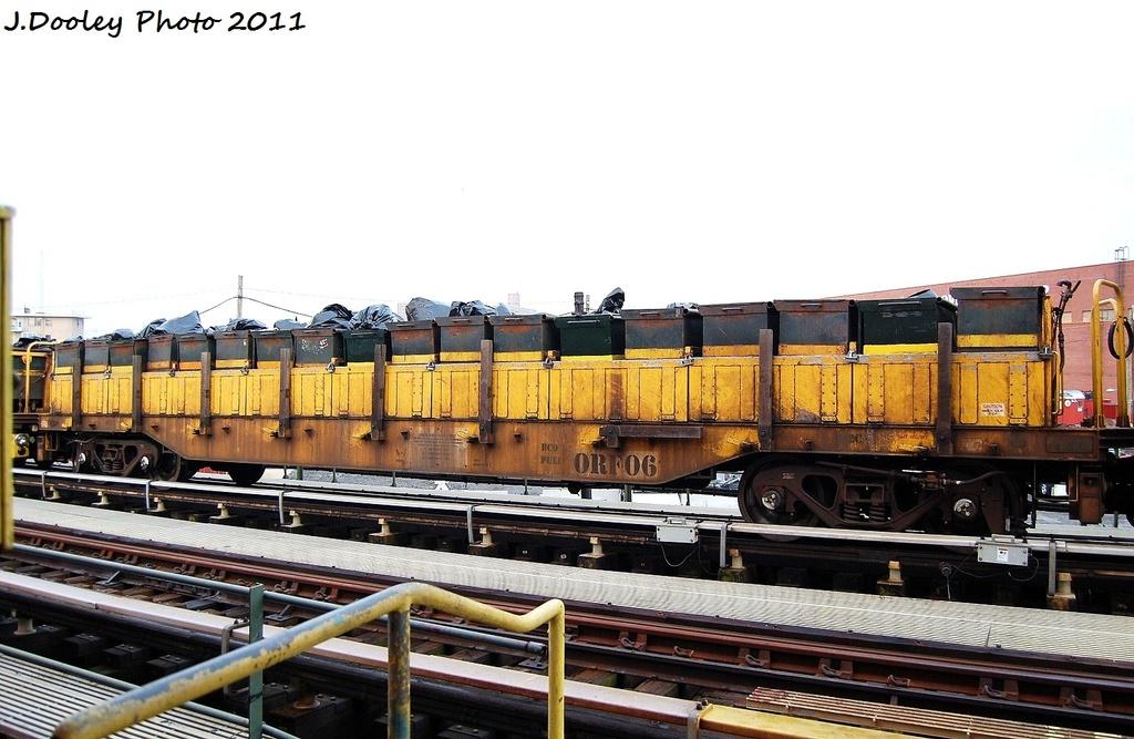 (296k, 1024x667)<br><b>Country:</b> United States<br><b>City:</b> New York<br><b>System:</b> New York City Transit<br><b>Line:</b> BMT Culver Line<br><b>Location:</b> Avenue X <br><b>Route:</b> Work Service<br><b>Car:</b> R-58 Refuse Collector Flat (Fuji, 1956)  RF06 <br><b>Photo by:</b> John Dooley<br><b>Date:</b> 8/26/2011<br><b>Viewed (this week/total):</b> 0 / 560