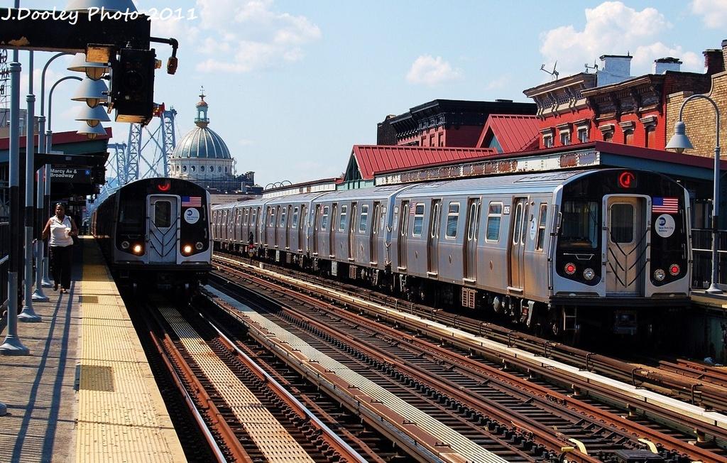 (401k, 1024x652)<br><b>Country:</b> United States<br><b>City:</b> New York<br><b>System:</b> New York City Transit<br><b>Line:</b> BMT Nassau Street/Jamaica Line<br><b>Location:</b> Marcy Avenue <br><b>Route:</b> J<br><b>Car:</b> R-160A-1 (Alstom, 2005-2008, 4 car sets)  8609 <br><b>Photo by:</b> John Dooley<br><b>Date:</b> 8/17/2011<br><b>Viewed (this week/total):</b> 1 / 816