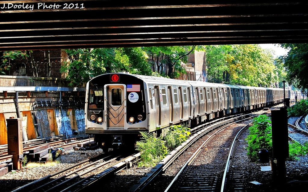 (460k, 1024x640)<br><b>Country:</b> United States<br><b>City:</b> New York<br><b>System:</b> New York City Transit<br><b>Line:</b> BMT Brighton Line<br><b>Location:</b> Prospect Park <br><b>Route:</b> Q<br><b>Car:</b> R-160B (Option 1) (Kawasaki, 2008-2009)  9002 <br><b>Photo by:</b> John Dooley<br><b>Date:</b> 9/12/2011<br><b>Viewed (this week/total):</b> 3 / 1048