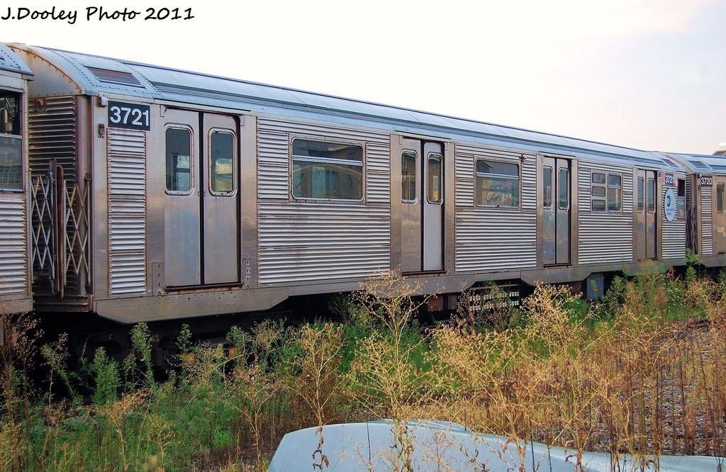 (395k, 1024x666)<br><b>Country:</b> United States<br><b>City:</b> New York<br><b>System:</b> New York City Transit<br><b>Location:</b> Coney Island Yard<br><b>Car:</b> R-32 (Budd, 1964)  3721 <br><b>Photo by:</b> John Dooley<br><b>Date:</b> 8/26/2011<br><b>Viewed (this week/total):</b> 1 / 714