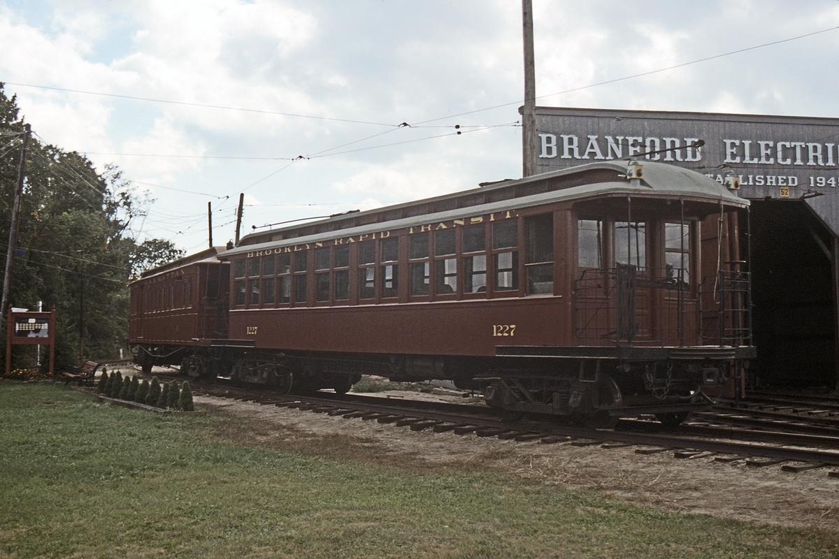 (403k, 1024x683)<br><b>Country:</b> United States<br><b>City:</b> East Haven/Branford, Ct.<br><b>System:</b> Shore Line Trolley Museum <br><b>Car:</b> BMT Elevated Gate Car 1227 <br><b>Collection of:</b> David Pirmann<br><b>Date:</b> 10/9/1988<br><b>Viewed (this week/total):</b> 0 / 669