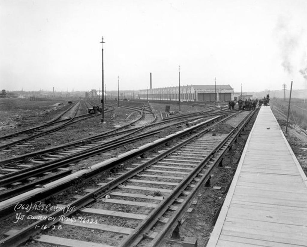 (215k, 1024x822)<br><b>Country:</b> United States<br><b>City:</b> New York<br><b>System:</b> New York City Transit<br><b>Location:</b> Corona Yard<br><b>Collection of:</b> Frank Pfuhler<br><b>Date:</b> 1/16/1928<br><b>Viewed (this week/total):</b> 1 / 864