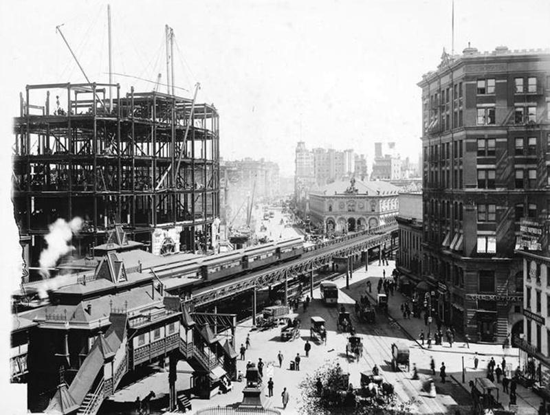(196k, 800x604)<br><b>Country:</b> United States<br><b>City:</b> New York<br><b>System:</b> New York City Transit<br><b>Line:</b> 6th Avenue El<br><b>Location:</b> 33rd Street <br><b>Collection of:</b> Frank Pfuhler<br><b>Date:</b> 1901<br><b>Viewed (this week/total):</b> 6 / 1493