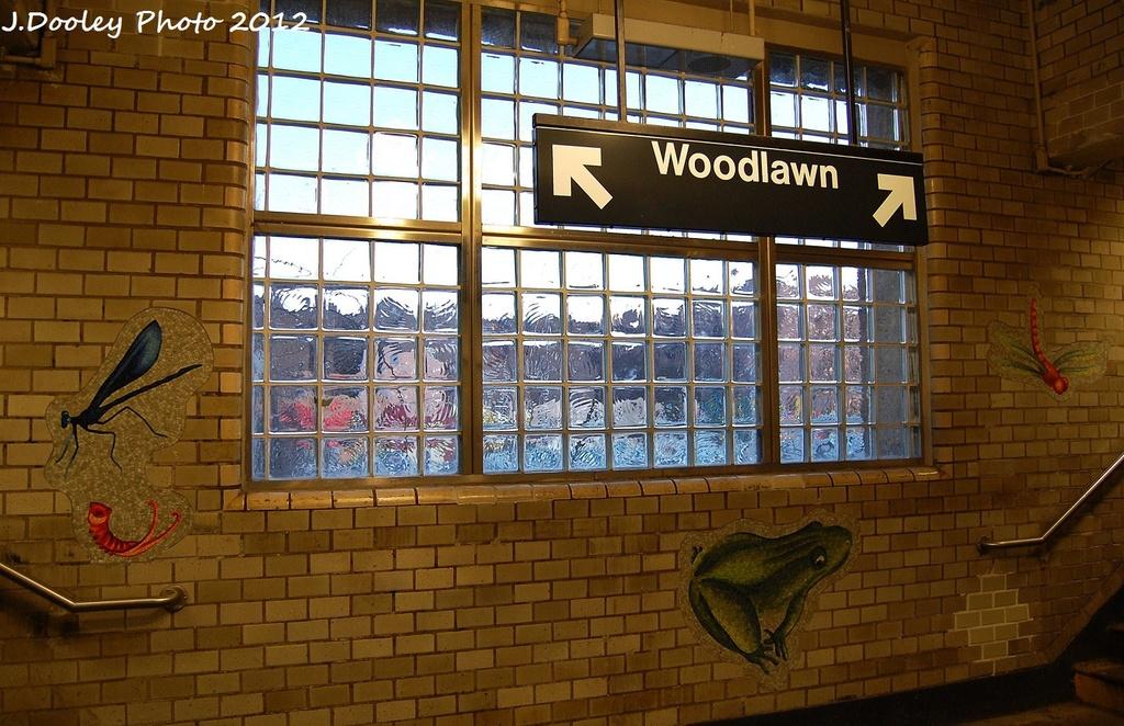 (359k, 1024x662)<br><b>Country:</b> United States<br><b>City:</b> New York<br><b>System:</b> New York City Transit<br><b>Line:</b> IRT Woodlawn Line<br><b>Location:</b> Bedford Park Boulevard <br><b>Photo by:</b> John Dooley<br><b>Date:</b> 1/29/2012<br><b>Artwork:</b> <i>Community Garden</i>, Andrea Deszö (2006).<br><b>Viewed (this week/total):</b> 1 / 1707