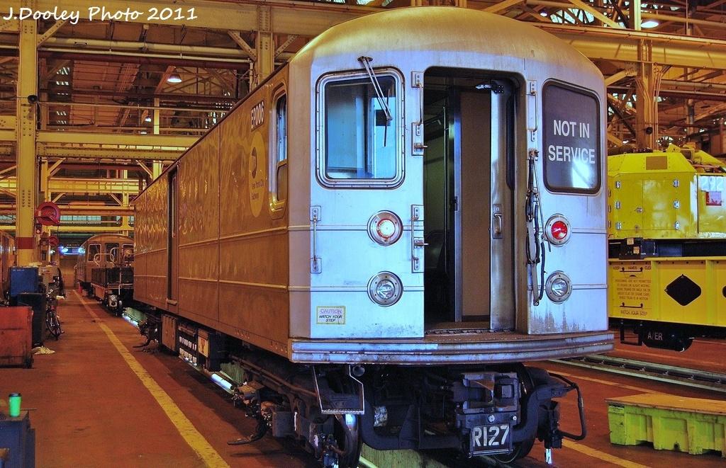 (397k, 1024x661)<br><b>Country:</b> United States<br><b>City:</b> New York<br><b>System:</b> New York City Transit<br><b>Location:</b> Coney Island Shop/Overhaul & Repair Shop<br><b>Car:</b> R-127/R-134 (Kawasaki, 1991-1996) EP006 <br><b>Photo by:</b> John Dooley<br><b>Date:</b> 8/26/2011<br><b>Viewed (this week/total):</b> 0 / 546