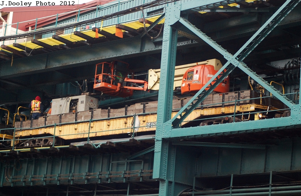 (340k, 1024x669)<br><b>Country:</b> United States<br><b>City:</b> New York<br><b>System:</b> New York City Transit<br><b>Line:</b> IRT Flushing Line<br><b>Location:</b> Queensborough Plaza <br><b>Route:</b> Work Service<br><b>Car:</b> Crane Car 165 <br><b>Photo by:</b> John Dooley<br><b>Date:</b> 3/31/2012<br><b>Viewed (this week/total):</b> 2 / 1204