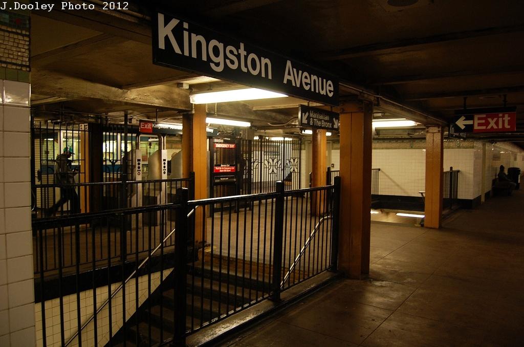(295k, 1024x678)<br><b>Country:</b> United States<br><b>City:</b> New York<br><b>System:</b> New York City Transit<br><b>Line:</b> IRT Brooklyn Line<br><b>Location:</b> Kingston Avenue <br><b>Photo by:</b> John Dooley<br><b>Date:</b> 3/29/2012<br><b>Viewed (this week/total):</b> 7 / 1224