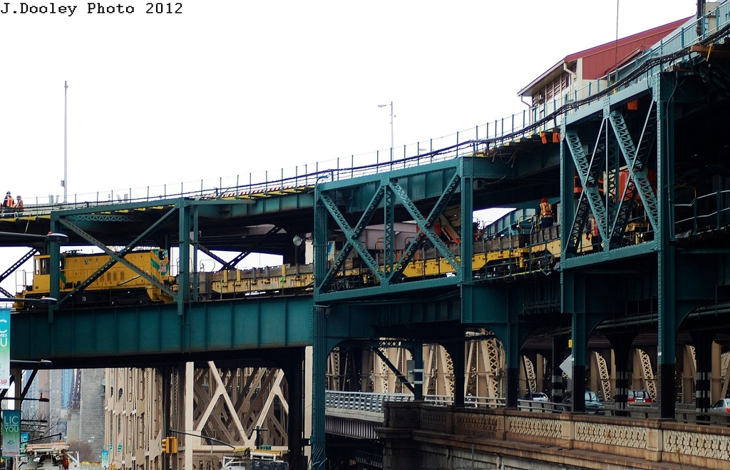 (311k, 1024x659)<br><b>Country:</b> United States<br><b>City:</b> New York<br><b>System:</b> New York City Transit<br><b>Line:</b> IRT Flushing Line<br><b>Location:</b> Queensborough Plaza <br><b>Route:</b> Work Service<br><b>Car:</b> R-47 Locomotive  70 <br><b>Photo by:</b> John Dooley<br><b>Date:</b> 3/31/2012<br><b>Viewed (this week/total):</b> 0 / 1115