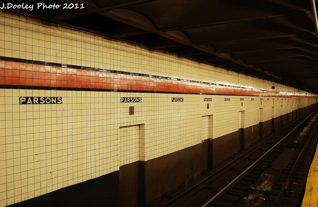 (327k, 1024x667)<br><b>Country:</b> United States<br><b>City:</b> New York<br><b>System:</b> New York City Transit<br><b>Line:</b> IND Queens Boulevard Line<br><b>Location:</b> Parsons Boulevard <br><b>Photo by:</b> John Dooley<br><b>Date:</b> 9/6/2011<br><b>Viewed (this week/total):</b> 1 / 1138