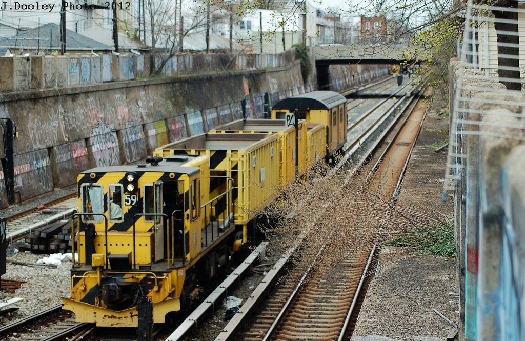 (419k, 1024x665)<br><b>Country:</b> United States<br><b>City:</b> New York<br><b>System:</b> New York City Transit<br><b>Line:</b> BMT Sea Beach Line<br><b>Location:</b> Kings Highway <br><b>Route:</b> Work Service<br><b>Car:</b> R-41 Locomotive  59 <br><b>Photo by:</b> John Dooley<br><b>Date:</b> 3/24/2012<br><b>Viewed (this week/total):</b> 1 / 922