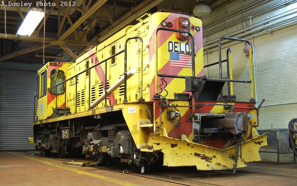 (367k, 1024x642)<br><b>Country:</b> United States<br><b>City:</b> New York<br><b>System:</b> New York City Transit<br><b>Location:</b> Coney Island Shop-Paint Shop<br><b>Car:</b> R-77E Locomotive  E05 <br><b>Photo by:</b> John Dooley<br><b>Date:</b> 2/21/2012<br><b>Viewed (this week/total):</b> 0 / 860
