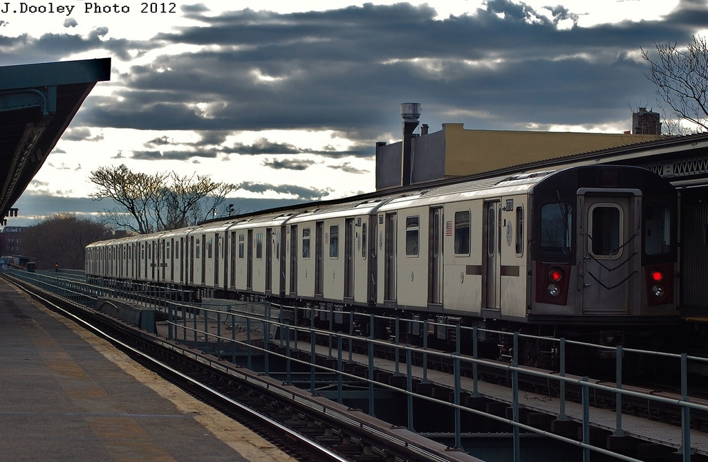 (310k, 1024x668)<br><b>Country:</b> United States<br><b>City:</b> New York<br><b>System:</b> New York City Transit<br><b>Line:</b> IRT Brooklyn Line<br><b>Location:</b> Saratoga Avenue <br><b>Route:</b> 2<br><b>Car:</b> R-142 (Primary Order, Bombardier, 1999-2002)  6770 <br><b>Photo by:</b> John Dooley<br><b>Date:</b> 3/29/2012<br><b>Viewed (this week/total):</b> 0 / 974