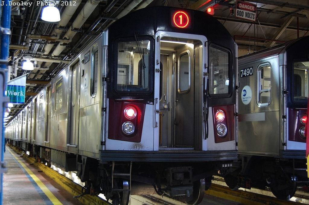 (350k, 1024x679)<br><b>Country:</b> United States<br><b>City:</b> New York<br><b>System:</b> New York City Transit<br><b>Location:</b> Westchester Yard<br><b>Car:</b> R-142A (Primary Order, Kawasaki, 1999-2002)  7231 <br><b>Photo by:</b> John Dooley<br><b>Date:</b> 2/26/2012<br><b>Viewed (this week/total):</b> 2 / 1470