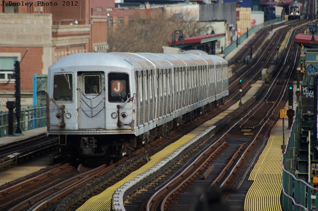 (349k, 1024x680)<br><b>Country:</b> United States<br><b>City:</b> New York<br><b>System:</b> New York City Transit<br><b>Line:</b> BMT Nassau Street/Jamaica Line<br><b>Location:</b> Hewes Street <br><b>Route:</b> J<br><b>Car:</b> R-42 (St. Louis, 1969-1970)  4800 <br><b>Photo by:</b> John Dooley<br><b>Date:</b> 3/23/2012<br><b>Viewed (this week/total):</b> 1 / 907