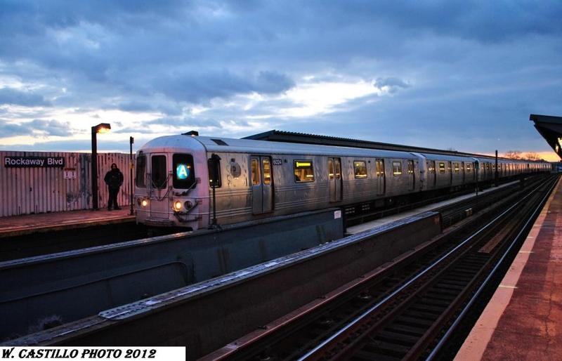 (131k, 800x514)<br><b>Country:</b> United States<br><b>City:</b> New York<br><b>System:</b> New York City Transit<br><b>Line:</b> IND Fulton Street Line<br><b>Location:</b> Rockaway Boulevard <br><b>Route:</b> A<br><b>Car:</b> R-46 (Pullman-Standard, 1974-75) 6004 <br><b>Photo by:</b> Wilfredo Castillo<br><b>Viewed (this week/total):</b> 1 / 558