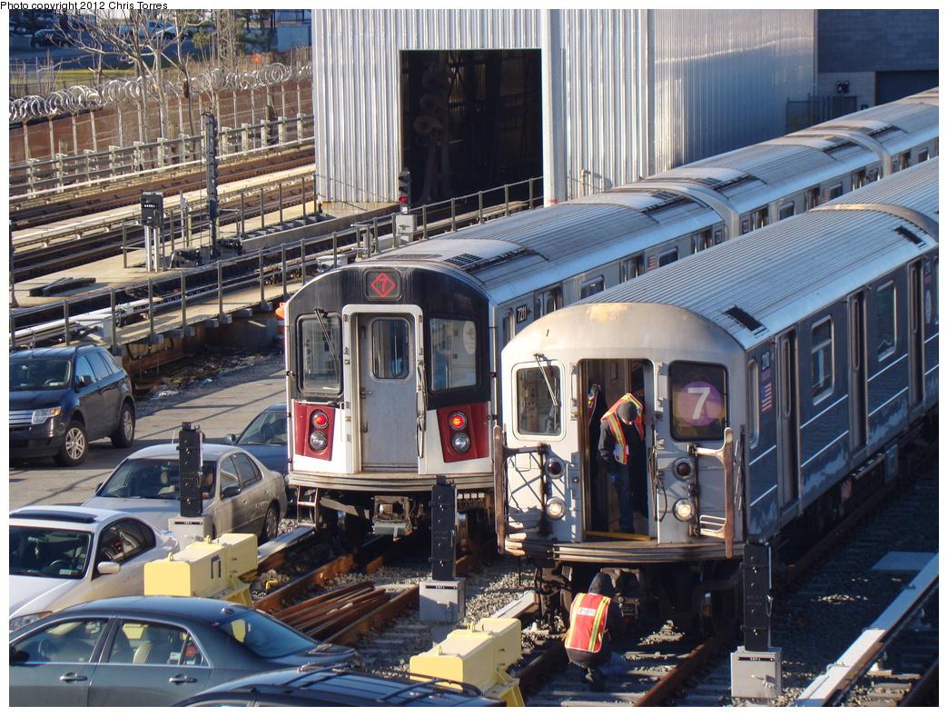 (451k, 1044x788)<br><b>Country:</b> United States<br><b>City:</b> New York<br><b>System:</b> New York City Transit<br><b>Location:</b> Corona Yard<br><b>Car:</b> R-188 (R-142A Conversion, Kawasaki, 1999-2002) 7211 <br><b>Photo by:</b> Chris Torres<br><b>Date:</b> 1/20/2012<br><b>Viewed (this week/total):</b> 1 / 1127