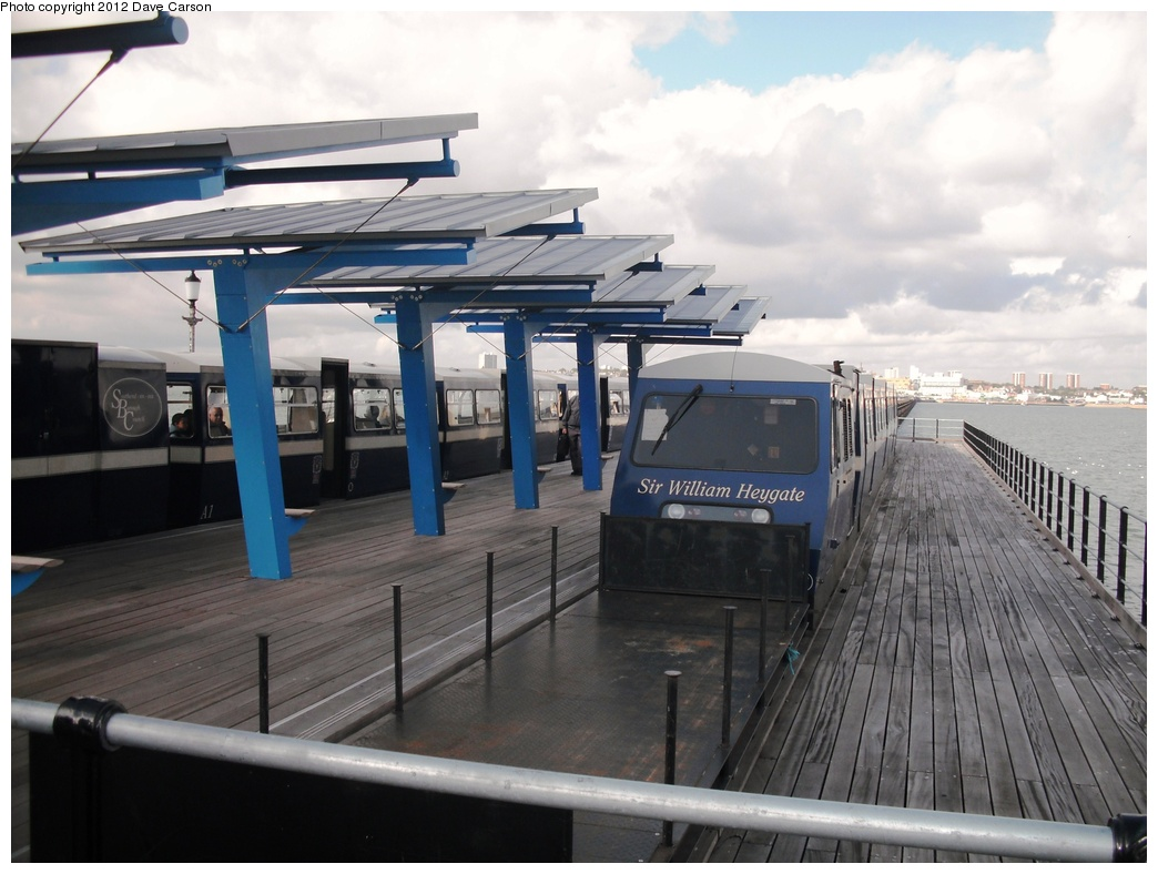 (258k, 1044x788)<br><b>Country:</b> United Kingdom<br><b>City:</b> Southend-on-Sea, Essex<br><b>System:</b> Southend Pier Railway<br><b>Photo by:</b> Dave Carson<br><b>Date:</b> 10/10/2009<br><b>Notes:</b> The stylish yet unfunctional platform 'shelter' of South Station which re-opened in September 2009.<br><b>Viewed (this week/total):</b> 0 / 627