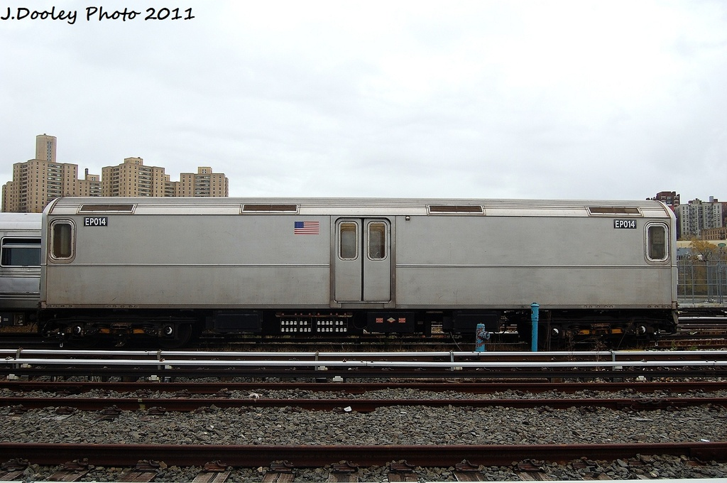 (295k, 1024x680)<br><b>Country:</b> United States<br><b>City:</b> New York<br><b>System:</b> New York City Transit<br><b>Location:</b> 207th Street Yard<br><b>Car:</b> R-127/R-134 (Kawasaki, 1991-1996) EP014 <br><b>Photo by:</b> John Dooley<br><b>Date:</b> 11/29/2011<br><b>Viewed (this week/total):</b> 0 / 760