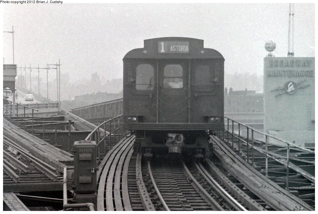 (358k, 1044x703)<br><b>Country:</b> United States<br><b>City:</b> New York<br><b>System:</b> New York City Transit<br><b>Line:</b> BMT Astoria Line<br><b>Location:</b> Queensborough Plaza <br><b>Route:</b> BMT 1<br><b>Car:</b> BMT D-Type Triplex  <br><b>Photo by:</b> Brian J. Cudahy<br><b>Date:</b> 1956<br><b>Viewed (this week/total):</b> 1 / 1571
