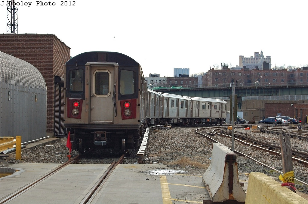 (307k, 1024x680)<br><b>Country:</b> United States<br><b>City:</b> New York<br><b>System:</b> New York City Transit<br><b>Location:</b> 207th Street Yard<br><b>Car:</b> R-142 or R-142A (Number Unknown)  <br><b>Photo by:</b> John Dooley<br><b>Date:</b> 2/1/2012<br><b>Viewed (this week/total):</b> 0 / 812