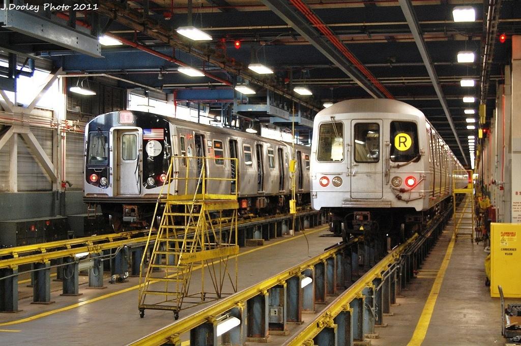 (405k, 1024x680)<br><b>Country:</b> United States<br><b>City:</b> New York<br><b>System:</b> New York City Transit<br><b>Location:</b> Jamaica Yard/Shops<br><b>Car:</b> R-160A (Option 2) (Alstom, 2009, 5-car sets)  9602 <br><b>Photo by:</b> John Dooley<br><b>Date:</b> 11/19/2011<br><b>Viewed (this week/total):</b> 0 / 1018
