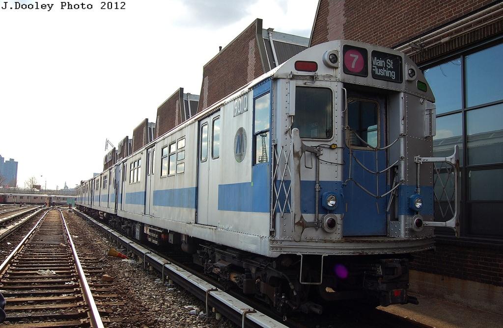 (322k, 1024x669)<br><b>Country:</b> United States<br><b>City:</b> New York<br><b>System:</b> New York City Transit<br><b>Location:</b> 207th Street Yard<br><b>Car:</b> R-33 Main Line (St. Louis, 1962-63) 9010 <br><b>Photo by:</b> John Dooley<br><b>Date:</b> 2/1/2012<br><b>Viewed (this week/total):</b> 1 / 1008