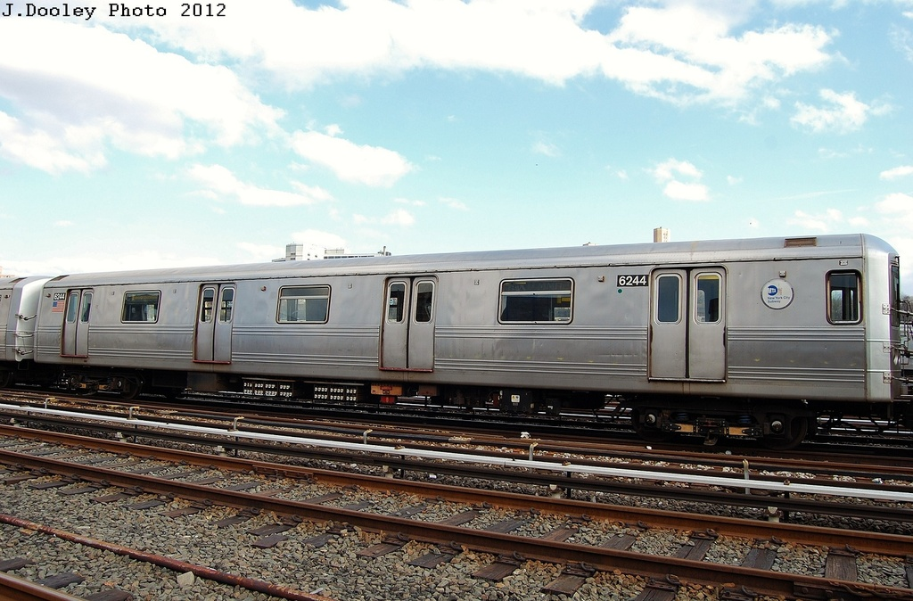 (319k, 1024x674)<br><b>Country:</b> United States<br><b>City:</b> New York<br><b>System:</b> New York City Transit<br><b>Location:</b> 207th Street Yard<br><b>Car:</b> R-46 (Pullman-Standard, 1974-75) 6244 <br><b>Photo by:</b> John Dooley<br><b>Date:</b> 2/1/2012<br><b>Viewed (this week/total):</b> 1 / 592