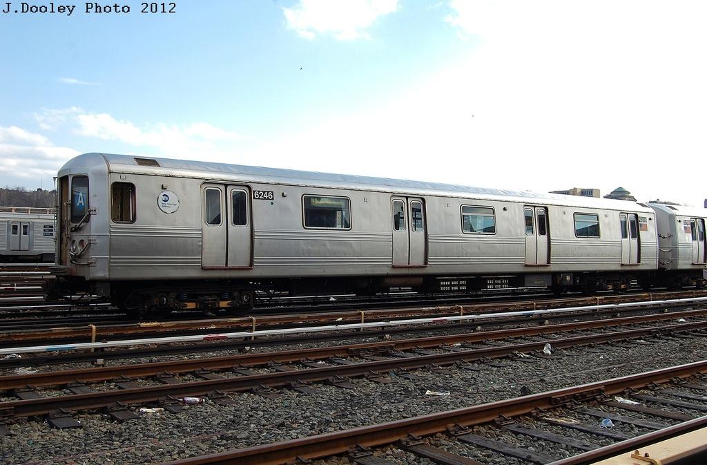 (308k, 1024x673)<br><b>Country:</b> United States<br><b>City:</b> New York<br><b>System:</b> New York City Transit<br><b>Location:</b> 207th Street Yard<br><b>Car:</b> R-46 (Pullman-Standard, 1974-75) 6246 <br><b>Photo by:</b> John Dooley<br><b>Date:</b> 2/1/2012<br><b>Viewed (this week/total):</b> 2 / 581