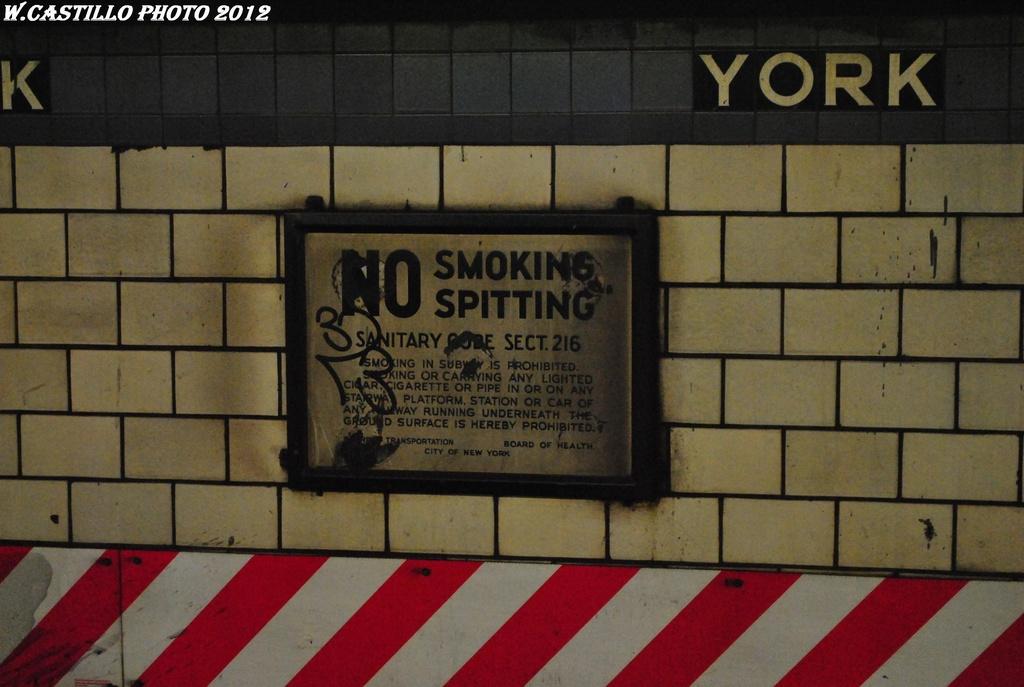 (266k, 1024x687)<br><b>Country:</b> United States<br><b>City:</b> New York<br><b>System:</b> New York City Transit<br><b>Line:</b> IND 6th Avenue Line<br><b>Location:</b> York Street <br><b>Photo by:</b> Wilfredo Castillo<br><b>Date:</b> 3/13/2012<br><b>Viewed (this week/total):</b> 1 / 1161