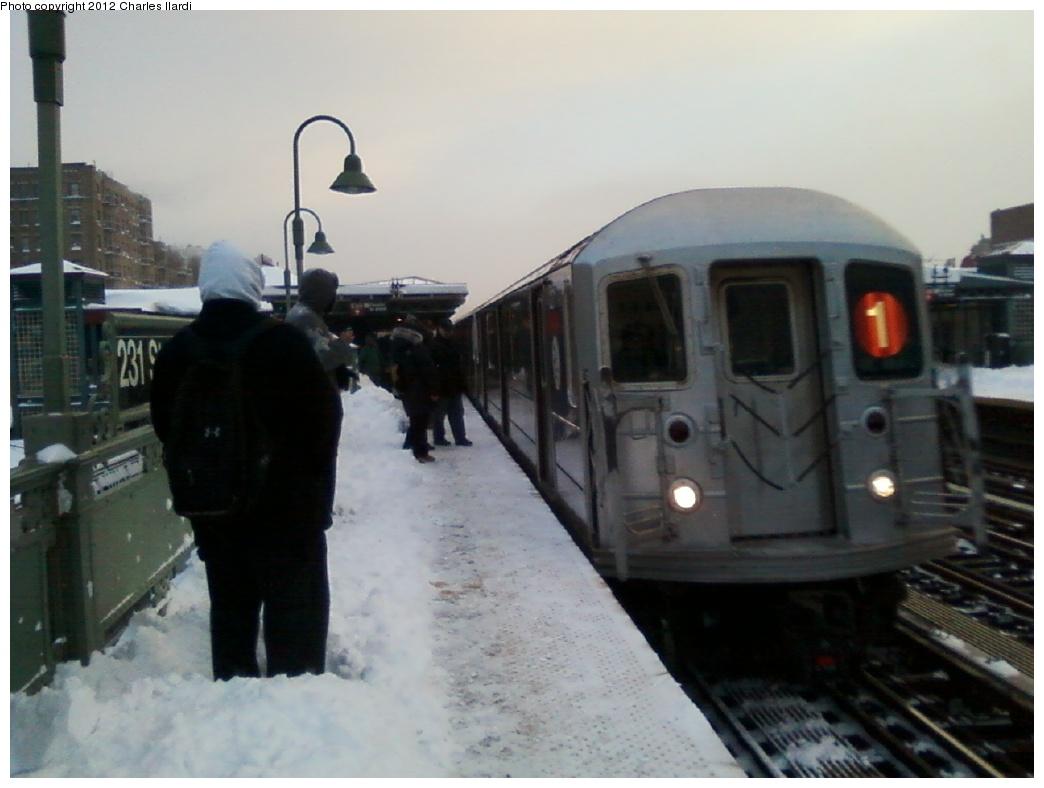 (222k, 1044x788)<br><b>Country:</b> United States<br><b>City:</b> New York<br><b>System:</b> New York City Transit<br><b>Line:</b> IRT West Side Line<br><b>Location:</b> 231st Street <br><b>Route:</b> 1<br><b>Car:</b> R-62A (Bombardier, 1984-1987)   <br><b>Photo by:</b> Charles Ilardi<br><b>Date:</b> 12/27/2010<br><b>Viewed (this week/total):</b> 0 / 1176