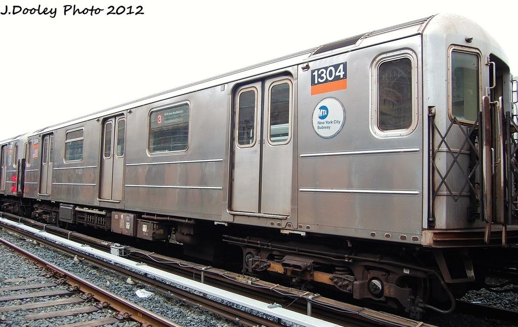 (302k, 1024x647)<br><b>Country:</b> United States<br><b>City:</b> New York<br><b>System:</b> New York City Transit<br><b>Location:</b> Livonia Yard<br><b>Car:</b> R-62 (Kawasaki, 1983-1985)  1304 <br><b>Photo by:</b> John Dooley<br><b>Date:</b> 1/26/2012<br><b>Viewed (this week/total):</b> 8 / 1136