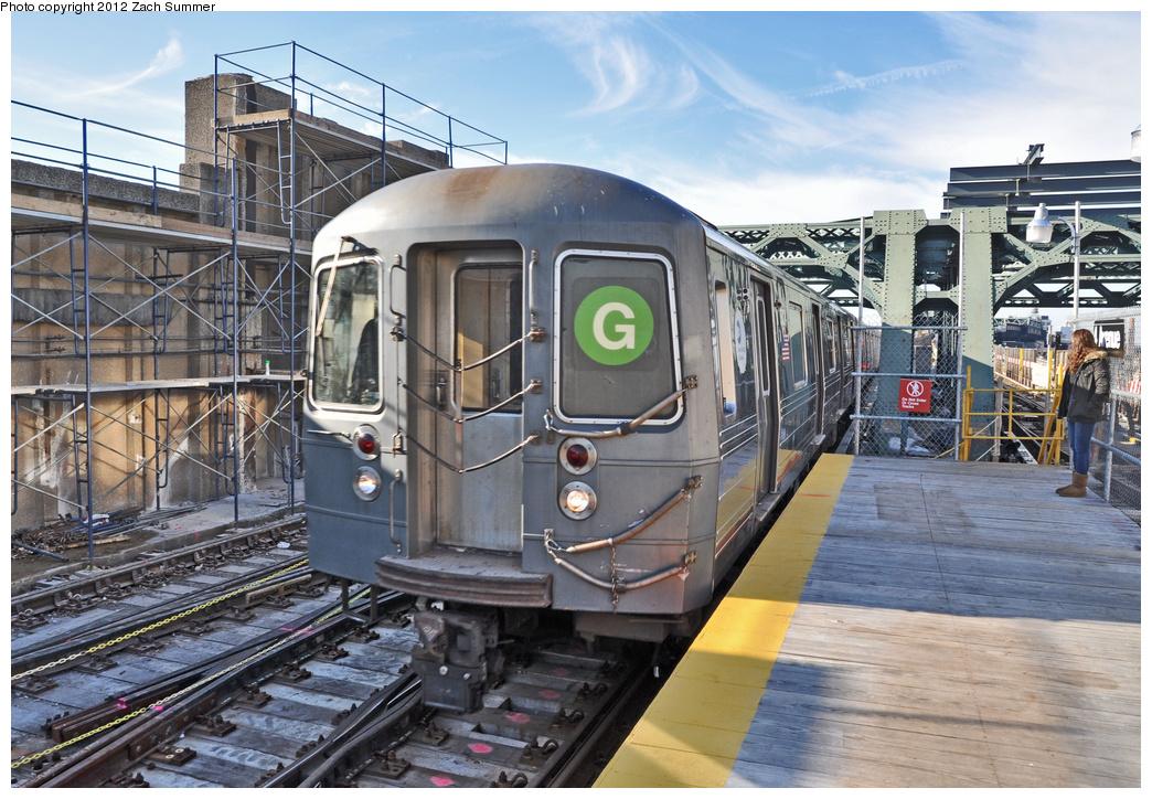(422k, 1044x724)<br><b>Country:</b> United States<br><b>City:</b> New York<br><b>System:</b> New York City Transit<br><b>Line:</b> IND Crosstown Line<br><b>Location:</b> 4th Avenue <br><b>Route:</b> G<br><b>Car:</b> R-68A (Kawasaki, 1988-1989)  5024 <br><b>Photo by:</b> Zach Summer<br><b>Date:</b> 12/30/2011<br><b>Viewed (this week/total):</b> 0 / 1272