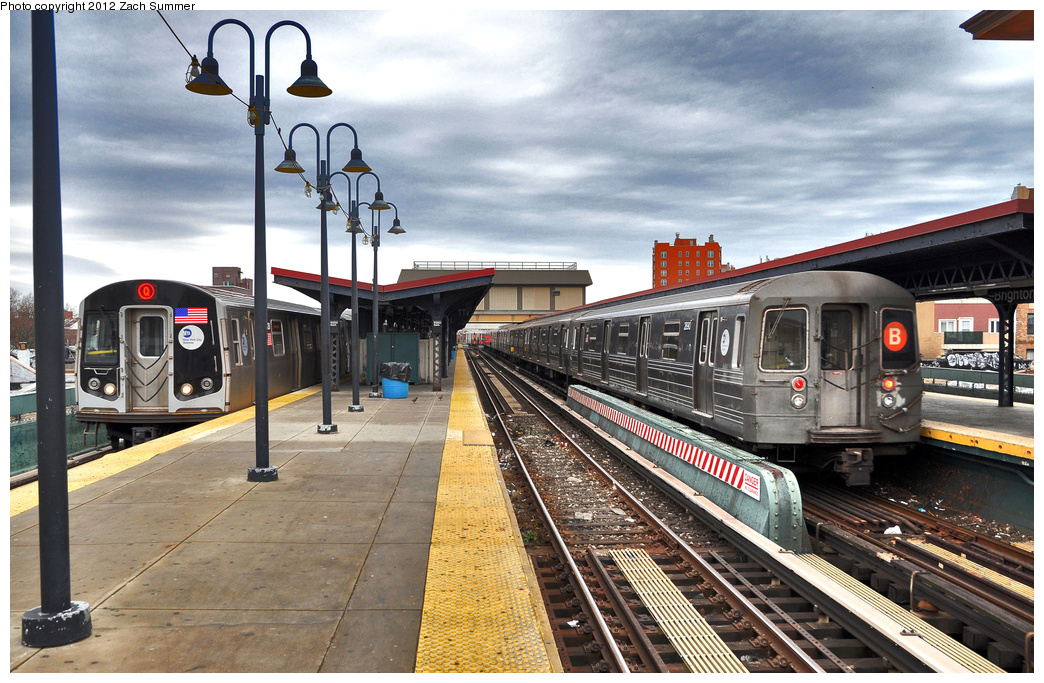 (418k, 1044x683)<br><b>Country:</b> United States<br><b>City:</b> New York<br><b>System:</b> New York City Transit<br><b>Line:</b> BMT Brighton Line<br><b>Location:</b> Brighton Beach <br><b>Route:</b> B<br><b>Car:</b> R-68 (Westinghouse-Amrail, 1986-1988)  2890 <br><b>Photo by:</b> Zach Summer<br><b>Date:</b> 12/27/2011<br><b>Viewed (this week/total):</b> 0 / 997