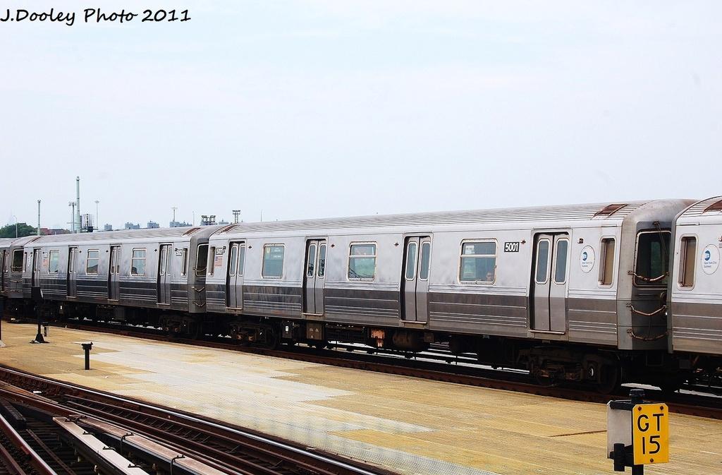 (291k, 1024x673)<br><b>Country:</b> United States<br><b>City:</b> New York<br><b>System:</b> New York City Transit<br><b>Location:</b> Coney Island/Stillwell Avenue<br><b>Route:</b> N<br><b>Car:</b> R-68A (Kawasaki, 1988-1989)  5001 <br><b>Photo by:</b> John Dooley<br><b>Date:</b> 7/23/2011<br><b>Viewed (this week/total):</b> 0 / 585