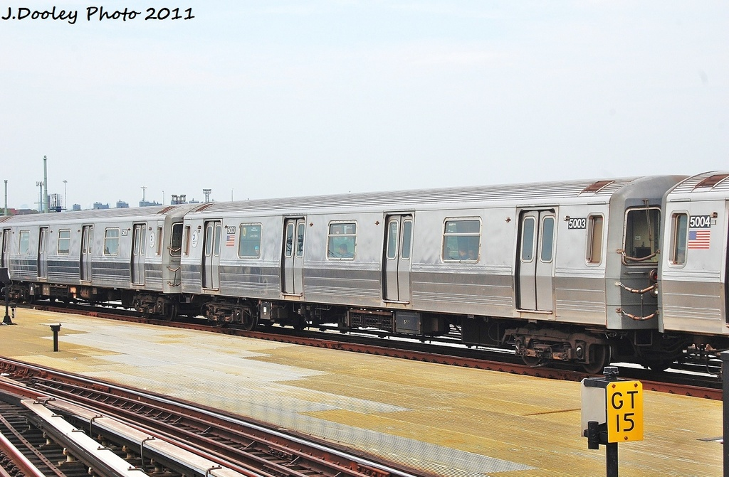 (307k, 1024x671)<br><b>Country:</b> United States<br><b>City:</b> New York<br><b>System:</b> New York City Transit<br><b>Location:</b> Coney Island/Stillwell Avenue<br><b>Route:</b> N<br><b>Car:</b> R-68A (Kawasaki, 1988-1989)  5003 <br><b>Photo by:</b> John Dooley<br><b>Date:</b> 7/23/2011<br><b>Viewed (this week/total):</b> 0 / 695