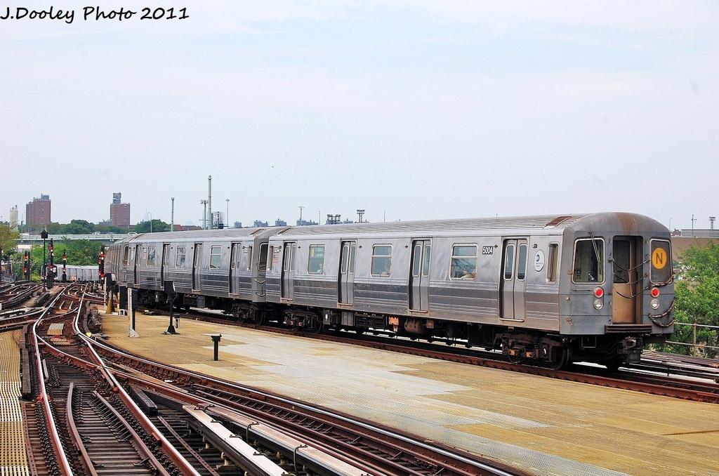 (329k, 1024x678)<br><b>Country:</b> United States<br><b>City:</b> New York<br><b>System:</b> New York City Transit<br><b>Location:</b> Coney Island/Stillwell Avenue<br><b>Route:</b> N<br><b>Car:</b> R-68A (Kawasaki, 1988-1989)  5004 <br><b>Photo by:</b> John Dooley<br><b>Date:</b> 7/23/2011<br><b>Viewed (this week/total):</b> 0 / 834