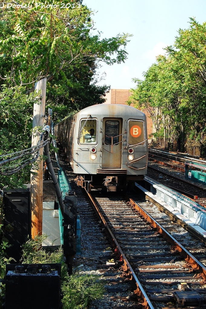 (506k, 681x1024)<br><b>Country:</b> United States<br><b>City:</b> New York<br><b>System:</b> New York City Transit<br><b>Line:</b> BMT Brighton Line<br><b>Location:</b> Avenue M <br><b>Route:</b> B<br><b>Car:</b> R-68A (Kawasaki, 1988-1989)  5070 <br><b>Photo by:</b> John Dooley<br><b>Date:</b> 9/12/2011<br><b>Viewed (this week/total):</b> 0 / 921