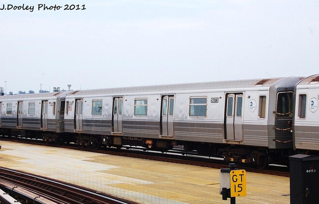 (266k, 1024x654)<br><b>Country:</b> United States<br><b>City:</b> New York<br><b>System:</b> New York City Transit<br><b>Location:</b> Coney Island/Stillwell Avenue<br><b>Route:</b> N<br><b>Car:</b> R-68A (Kawasaki, 1988-1989)  5073 <br><b>Photo by:</b> John Dooley<br><b>Date:</b> 7/23/2011<br><b>Viewed (this week/total):</b> 1 / 578