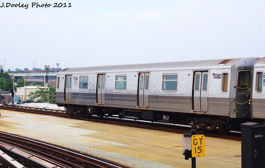 (292k, 1024x651)<br><b>Country:</b> United States<br><b>City:</b> New York<br><b>System:</b> New York City Transit<br><b>Location:</b> Coney Island/Stillwell Avenue<br><b>Route:</b> N<br><b>Car:</b> R-68A (Kawasaki, 1988-1989)  5074 <br><b>Photo by:</b> John Dooley<br><b>Date:</b> 7/23/2011<br><b>Viewed (this week/total):</b> 2 / 774