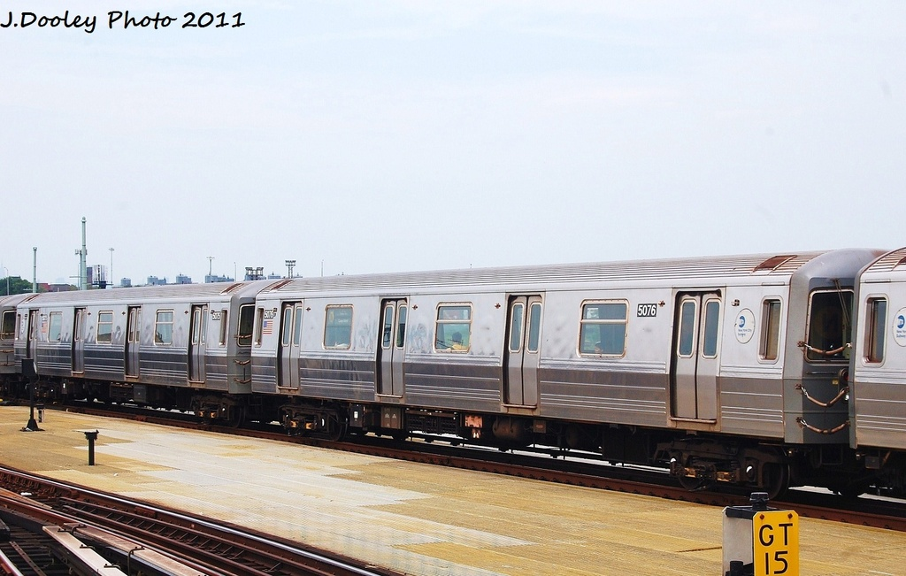 (274k, 1024x651)<br><b>Country:</b> United States<br><b>City:</b> New York<br><b>System:</b> New York City Transit<br><b>Location:</b> Coney Island/Stillwell Avenue<br><b>Route:</b> N<br><b>Car:</b> R-68A (Kawasaki, 1988-1989)  5076 <br><b>Photo by:</b> John Dooley<br><b>Date:</b> 7/23/2011<br><b>Viewed (this week/total):</b> 4 / 596