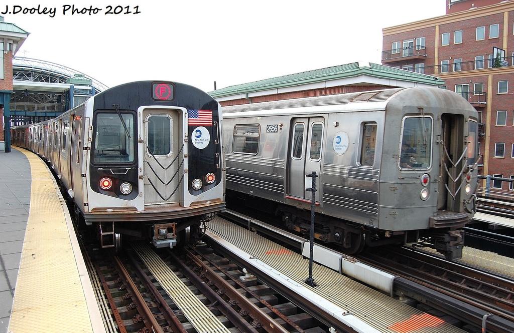 (365k, 1024x665)<br><b>Country:</b> United States<br><b>City:</b> New York<br><b>System:</b> New York City Transit<br><b>Location:</b> Coney Island/Stillwell Avenue<br><b>Route:</b> D<br><b>Car:</b> R-68 (Westinghouse-Amrail, 1986-1988)  2656 <br><b>Photo by:</b> John Dooley<br><b>Date:</b> 12/5/2011<br><b>Viewed (this week/total):</b> 5 / 984