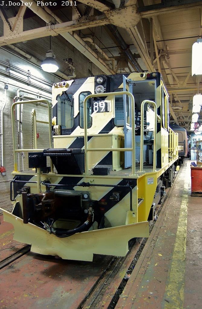 (381k, 669x1025)<br><b>Country:</b> United States<br><b>City:</b> New York<br><b>System:</b> New York City Transit<br><b>Location:</b> Coney Island Shop-Paint Shop<br><b>Car:</b> R-77 Locomotive  891 <br><b>Photo by:</b> John Dooley<br><b>Date:</b> 12/17/2011<br><b>Viewed (this week/total):</b> 0 / 636