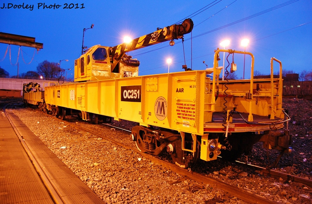 (402k, 1024x669)<br><b>Country:</b> United States<br><b>City:</b> New York<br><b>System:</b> New York City Transit<br><b>Location:</b> 36th Street Yard<br><b>Car:</b> Crane Car 251 <br><b>Photo by:</b> John Dooley<br><b>Date:</b> 12/29/2011<br><b>Viewed (this week/total):</b> 1 / 638