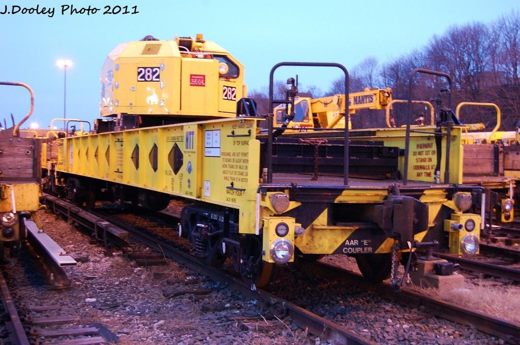 (350k, 1024x680)<br><b>Country:</b> United States<br><b>City:</b> New York<br><b>System:</b> New York City Transit<br><b>Location:</b> 36th Street Yard<br><b>Car:</b> R-162 Crane Car  282 <br><b>Photo by:</b> John Dooley<br><b>Date:</b> 12/29/2011<br><b>Viewed (this week/total):</b> 0 / 612