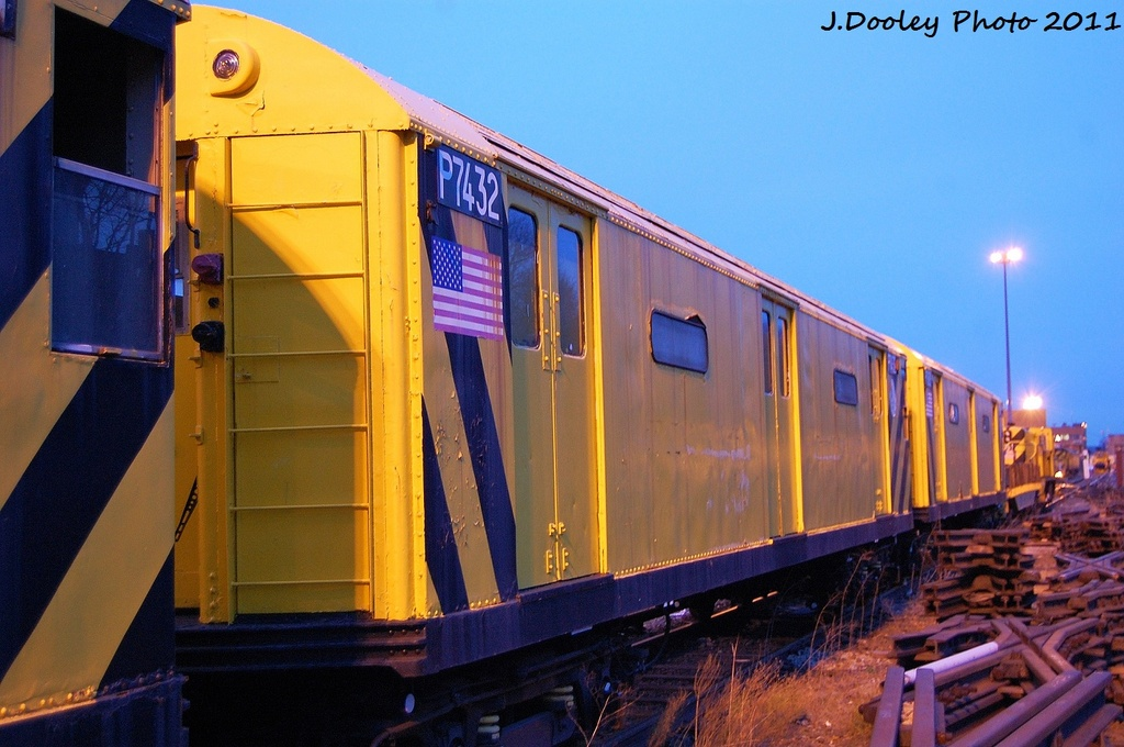 (302k, 1024x680)<br><b>Country:</b> United States<br><b>City:</b> New York<br><b>System:</b> New York City Transit<br><b>Location:</b> 36th Street Yard<br><b>Car:</b> R-71 Pump/Reach Car (R-17/R-21/R-22 Rebuilds) P7432 <br><b>Photo by:</b> John Dooley<br><b>Date:</b> 12/29/2011<br><b>Viewed (this week/total):</b> 2 / 1716