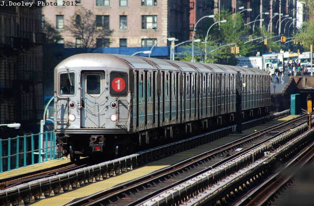 (390k, 1024x672)<br><b>Country:</b> United States<br><b>City:</b> New York<br><b>System:</b> New York City Transit<br><b>Line:</b> IRT West Side Line<br><b>Location:</b> 125th Street <br><b>Route:</b> 1<br><b>Car:</b> R-62A (Bombardier, 1984-1987)  2256 <br><b>Photo by:</b> John Dooley<br><b>Date:</b> 4/16/2012<br><b>Viewed (this week/total):</b> 0 / 1034